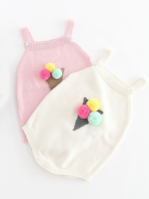 Mia Ice Cream Knitted Romper Bello Baby Clothing
