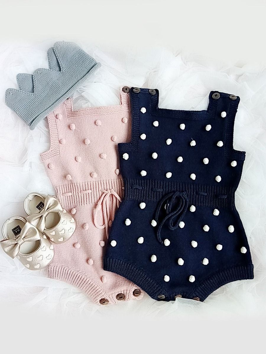Amelie Knitted Crochet Romper Bello Baby Clothing